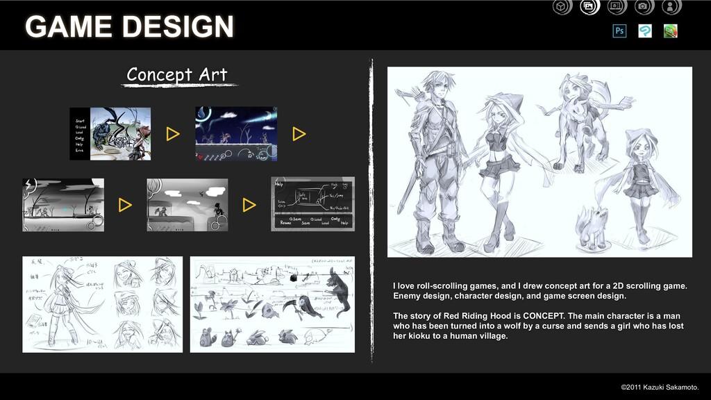 Concept Art GAME DESIGN I love roll-scrolling g...