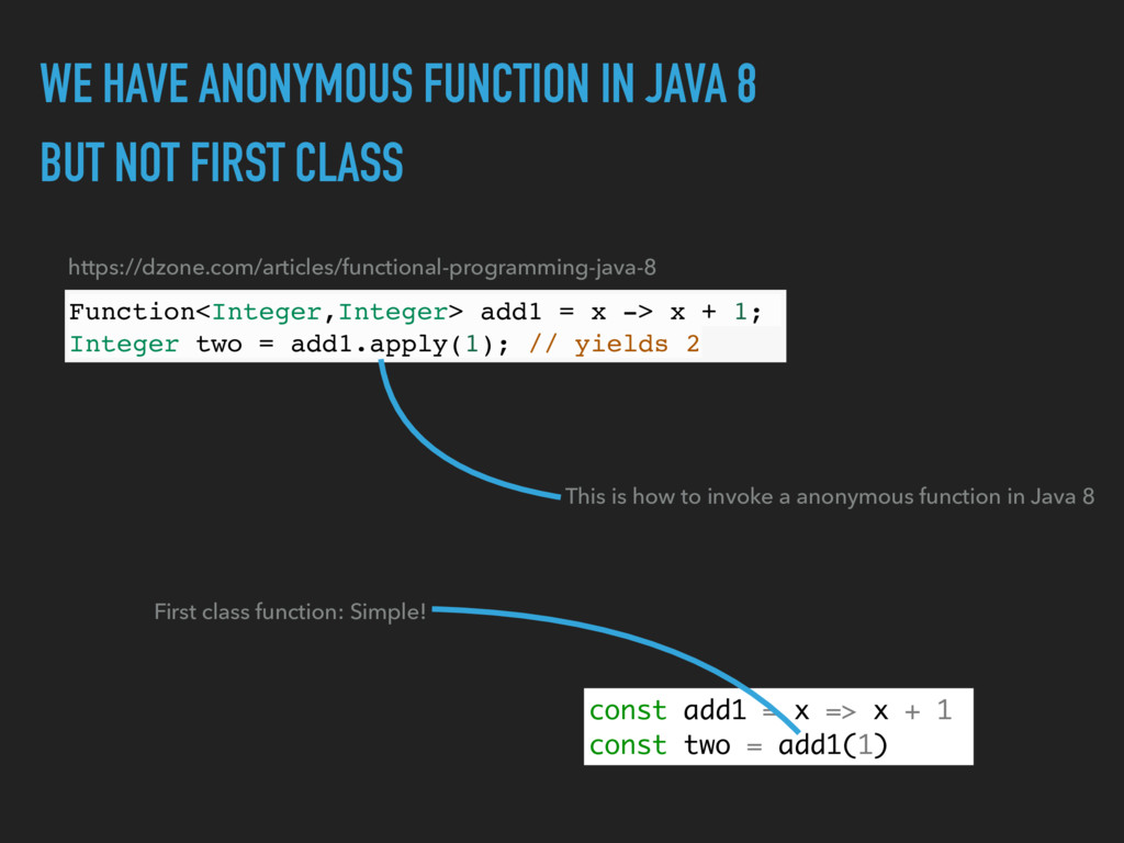 WE HAVE ANONYMOUS FUNCTION IN JAVA 8 BUT NOT FI...