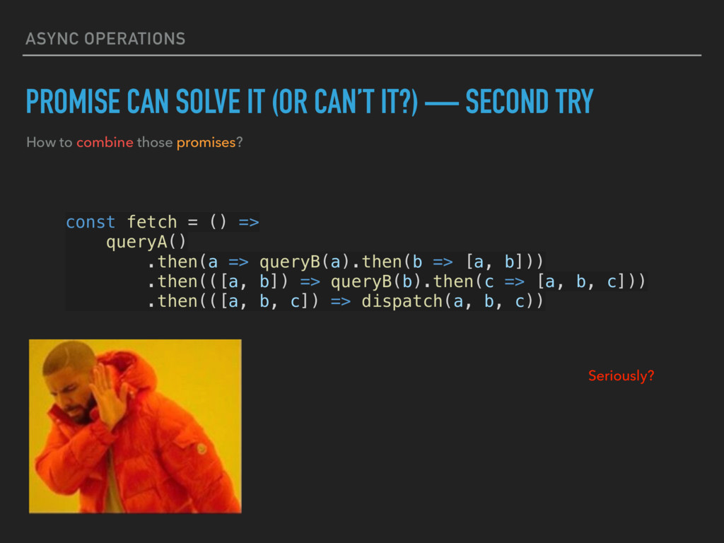 ASYNC OPERATIONS PROMISE CAN SOLVE IT (OR CAN'T...