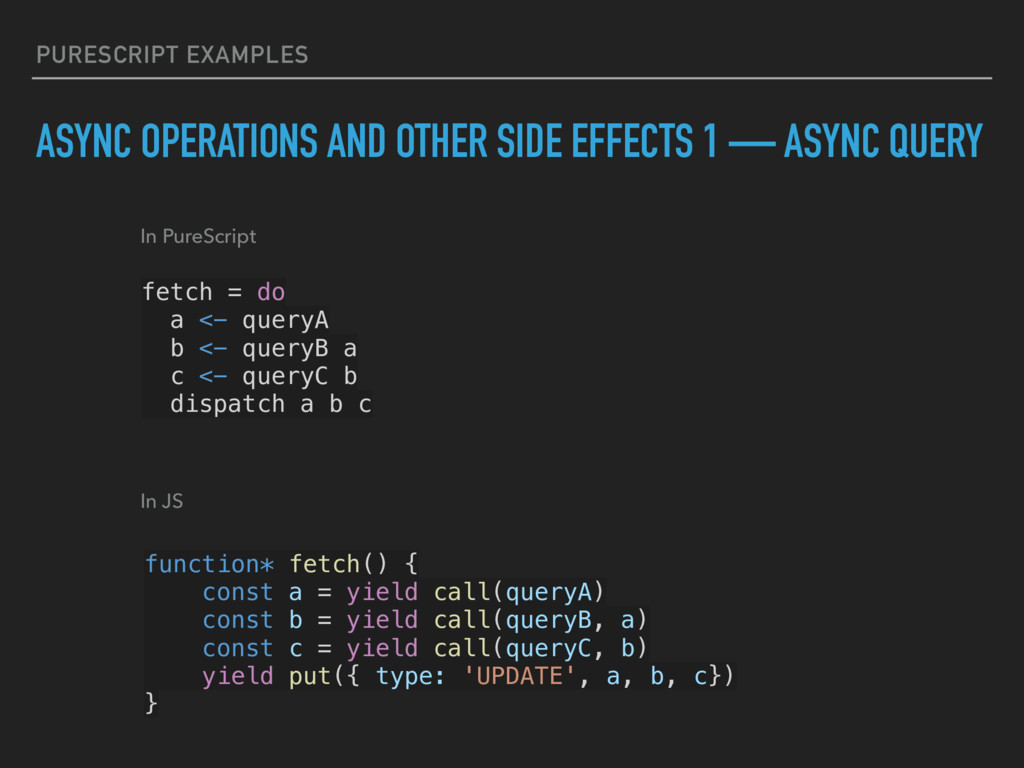 PURESCRIPT EXAMPLES ASYNC OPERATIONS AND OTHER ...