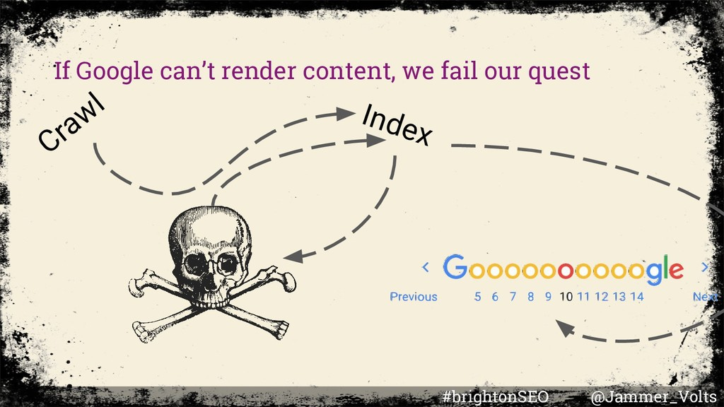 If Google can't render content, we fail our que...