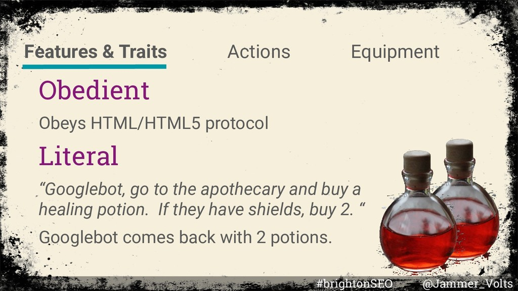 """Obedient Obeys HTML/HTML5 protocol Literal """"Goo..."""