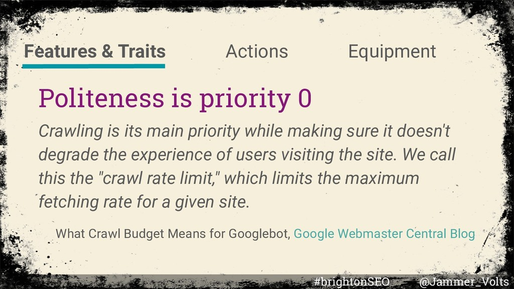 Politeness is priority 0 Crawling is its main p...