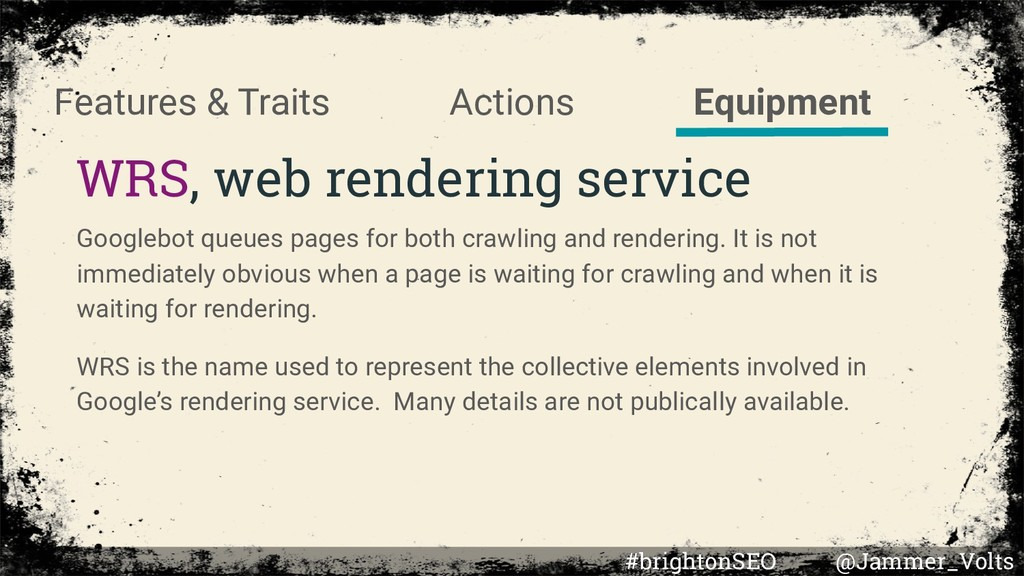 Actions WRS, web rendering service Features & T...