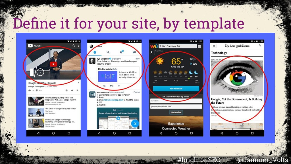 Define it for your site, by template #brightonSE...