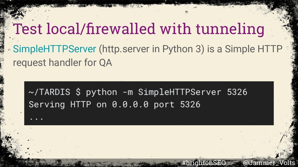 Test local/firewalled with tunneling SimpleHTTPS...
