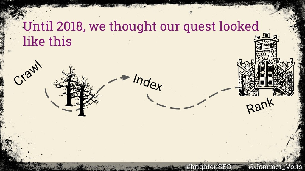 Until 2018, we thought our quest looked like th...