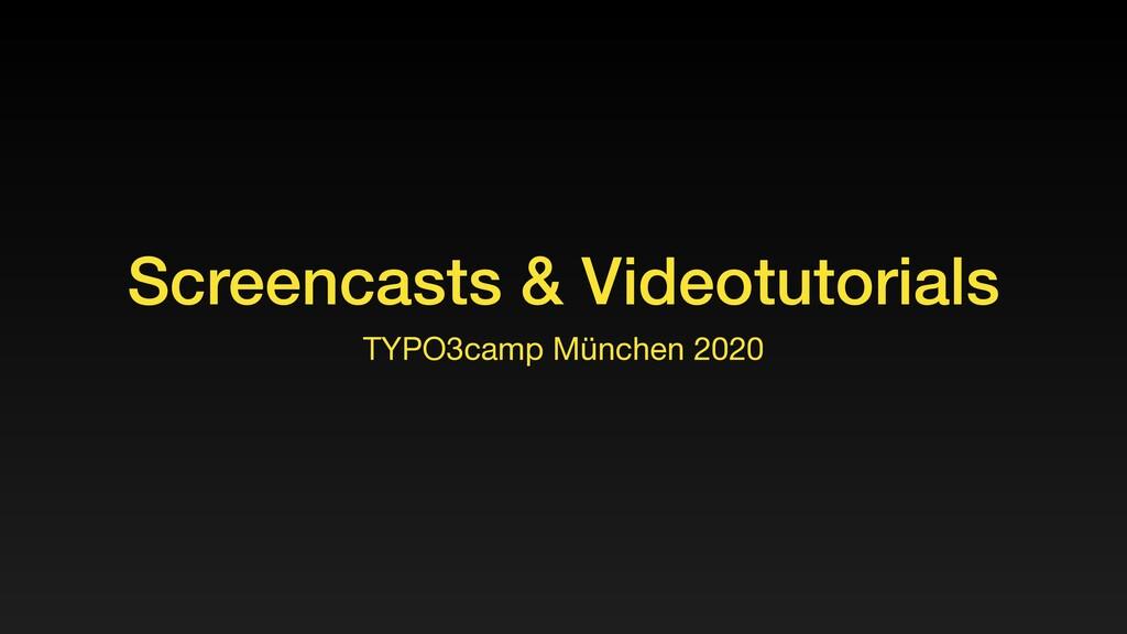 Screencasts & Videotutorials TYPO3camp München ...