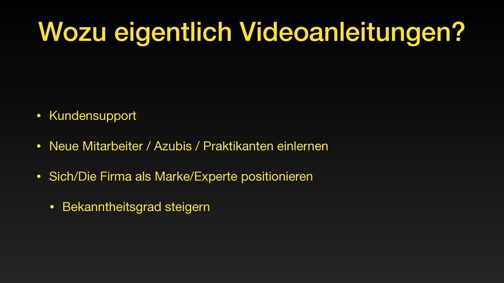 Wozu eigentlich Videoanleitungen? • Kundensuppo...