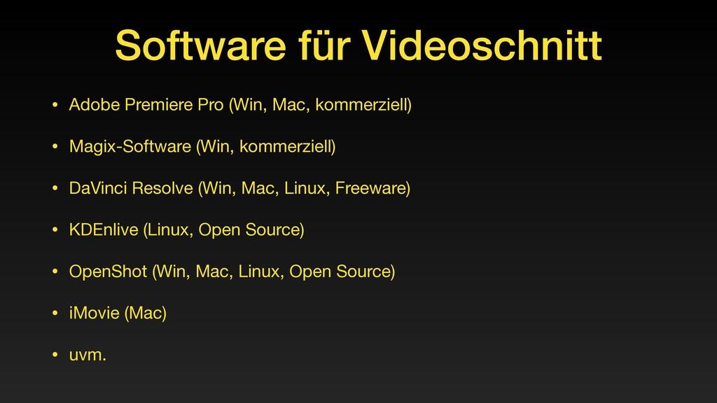 Software für Videoschnitt • Adobe Premiere Pro ...