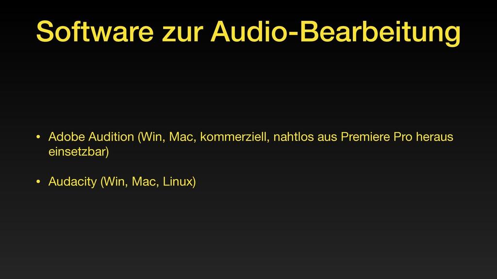 Software zur Audio-Bearbeitung • Adobe Audition...
