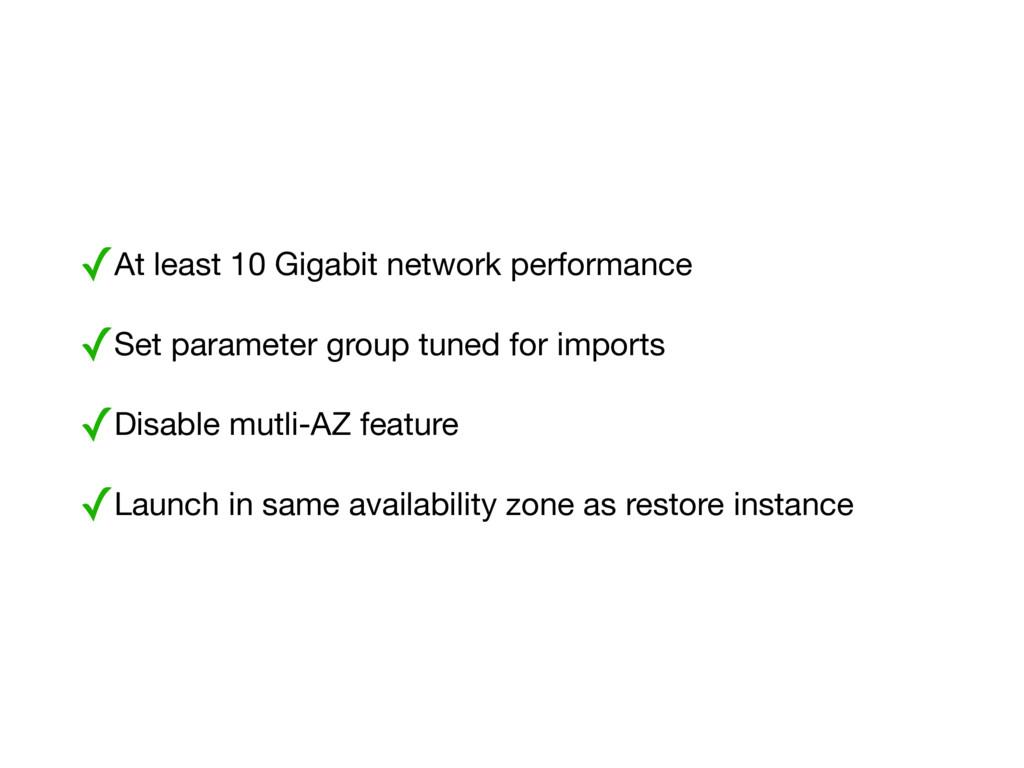 ✓At least 10 Gigabit network performance  ✓Set ...