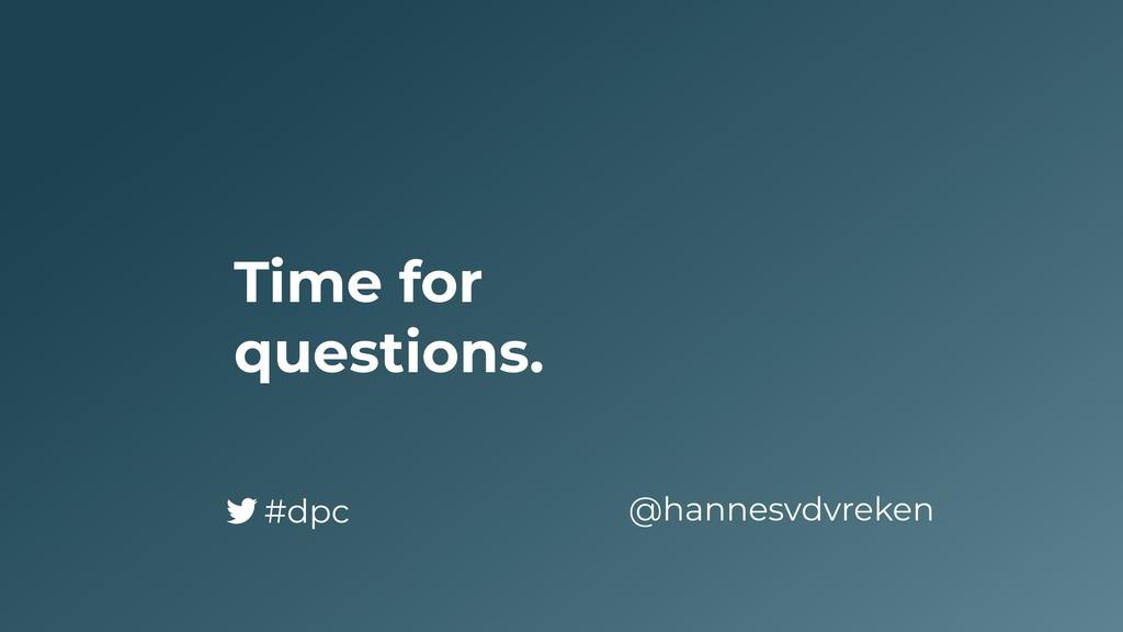 Time for questions. @hannesvdvreken #dpc