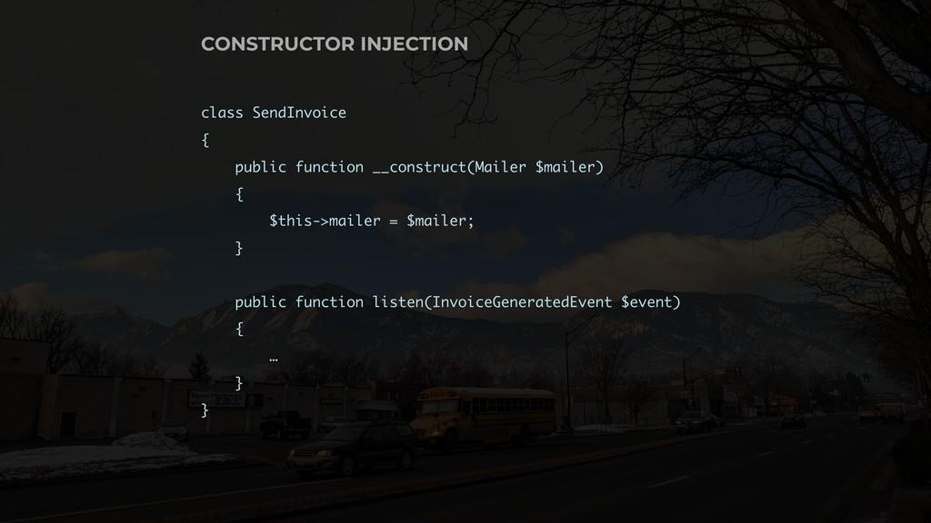 class SendInvoice { public function __construct...