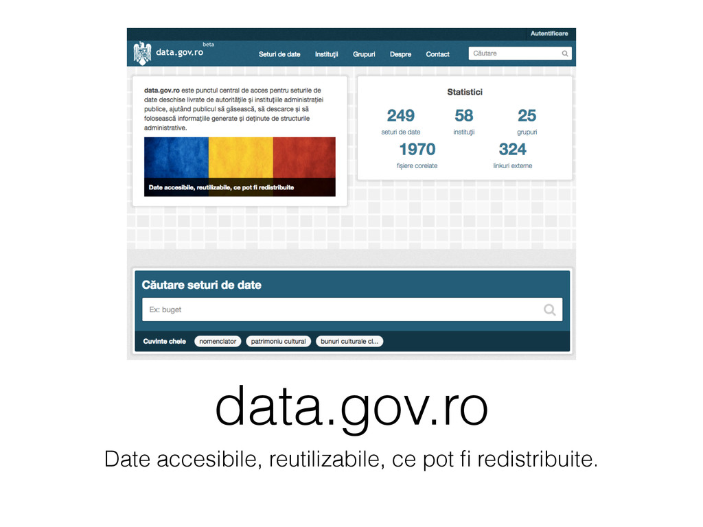 data.gov.ro Date accesibile, reutilizabile, ce ...