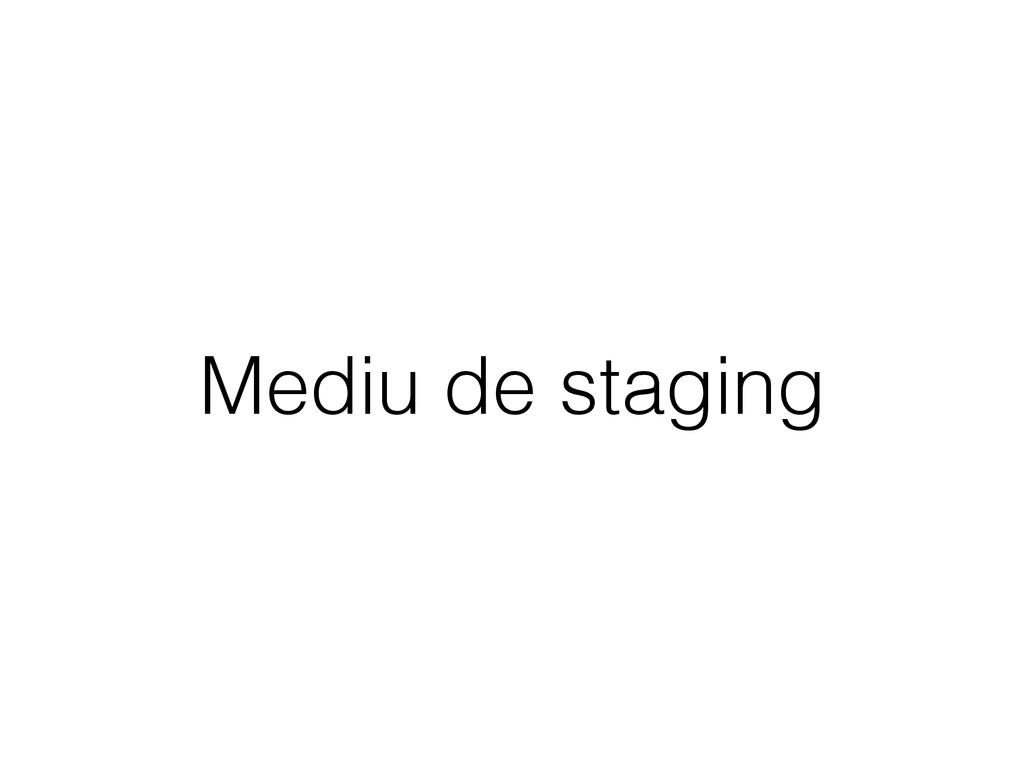 Mediu de staging