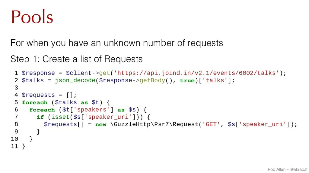 Pools For when you have an unknown number of re...