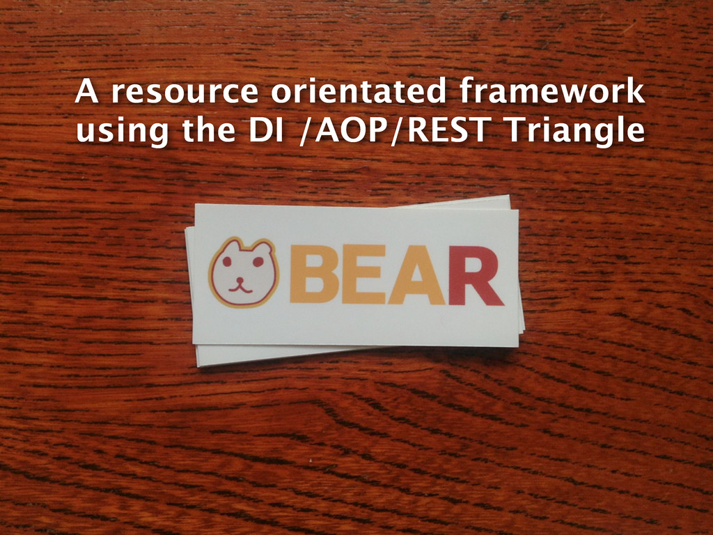 A resource orientated framework using the DI /A...