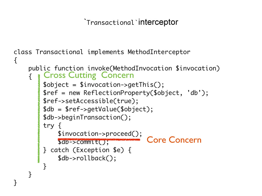class Transactional implements MethodIntercepto...