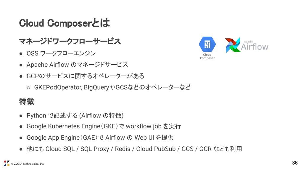 © ZOZO Technologies, Inc. 36 Cloud Composerとは ...