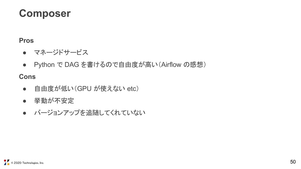© ZOZO Technologies, Inc. 50 Composer Pros ● マネ...