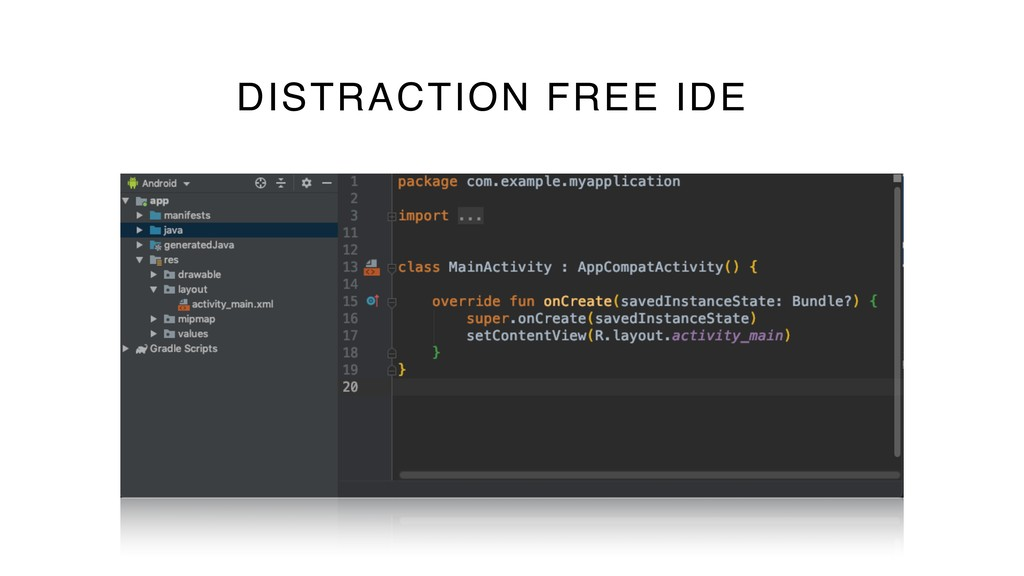 57 DISTRACTION FREE IDE