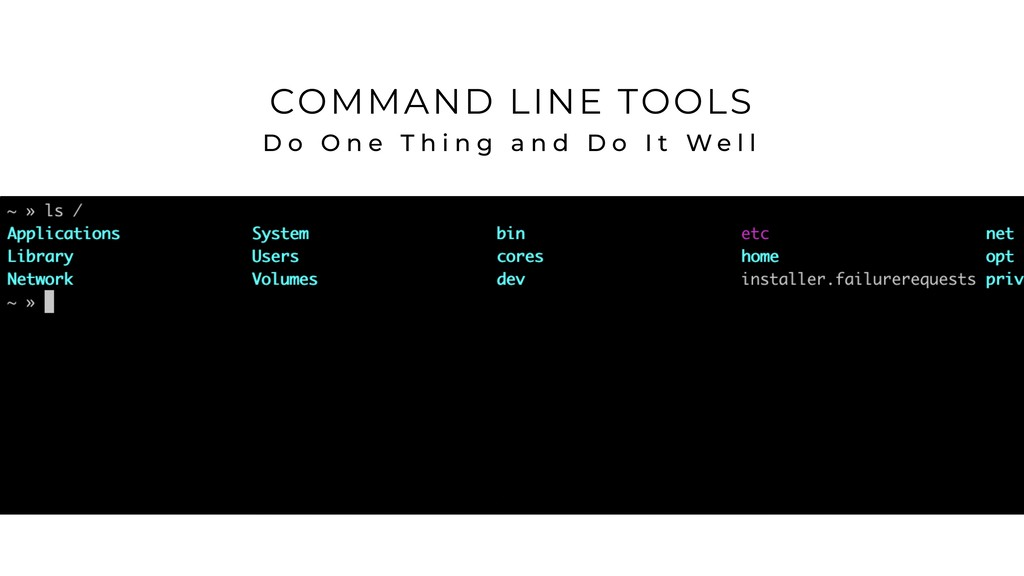 COMMAND LINE TOOLS D o O n e T h i n g a n d D ...
