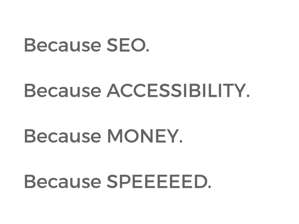 Because SEO. 