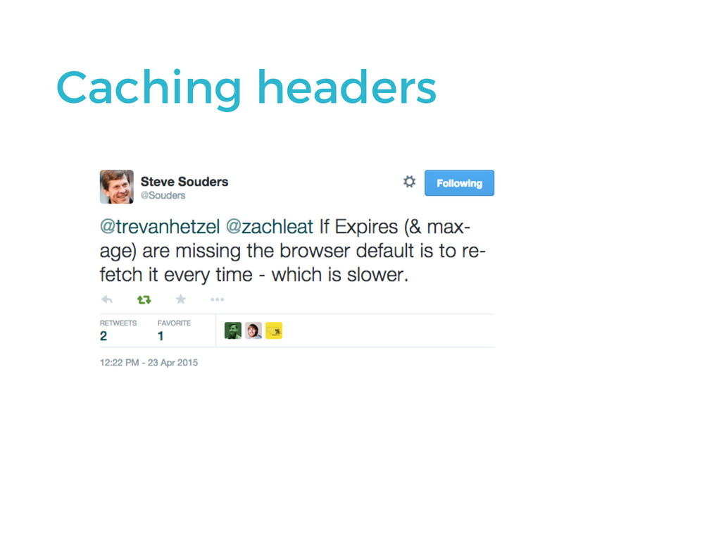 Caching headers