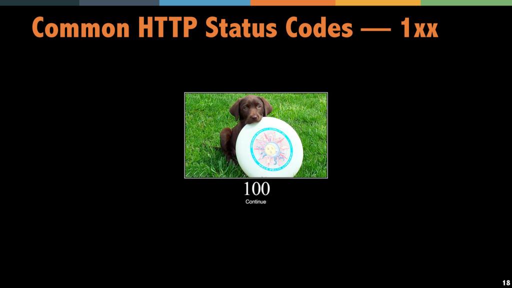 18 Common HTTP Status Codes — 1xx