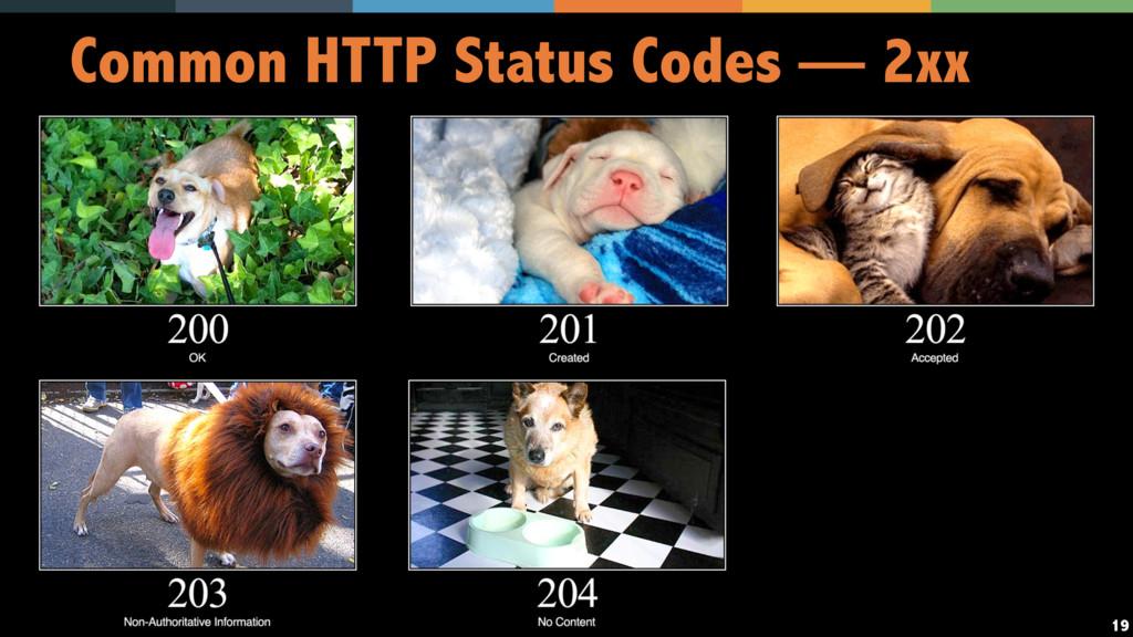 19 Common HTTP Status Codes — 2xx