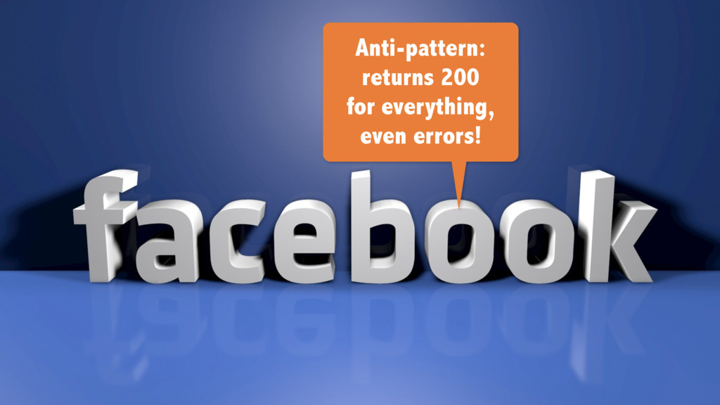 Anti-pattern: returns 200 for everything, even ...