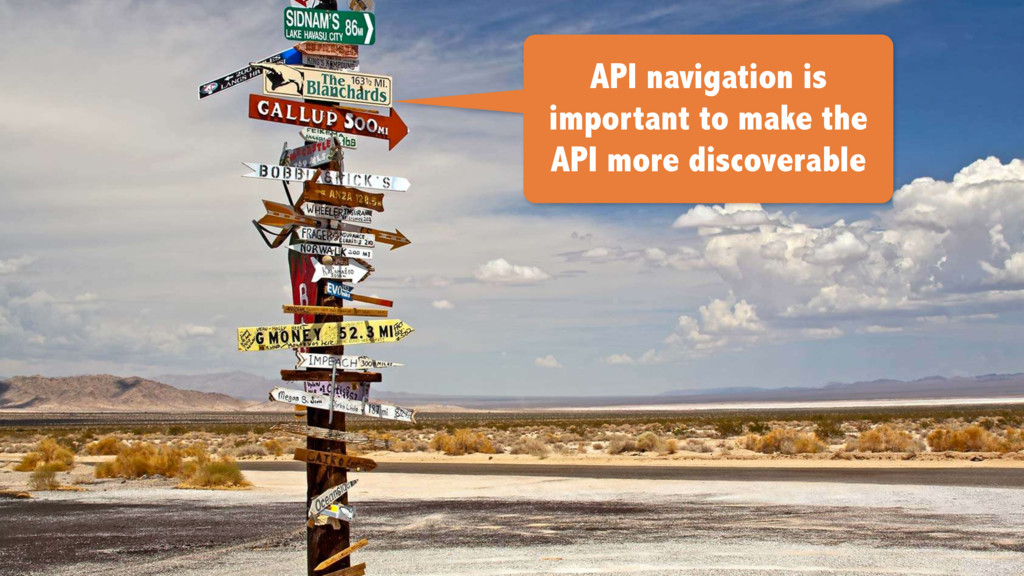 API navigation is important to make the API mor...