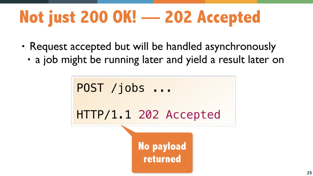 25 Not just 200 OK! — 202 Accepted • Request ac...