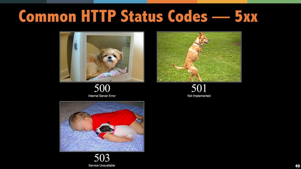 40 Common HTTP Status Codes — 5xx
