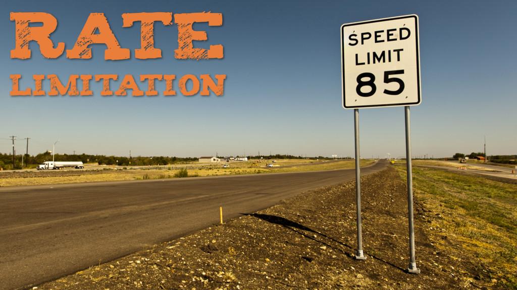 RATE LIMITATION