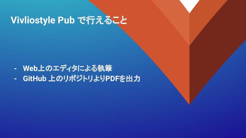 Vivliostyle Pub で行えること - Web上のエディタによる執筆 - GitHu...