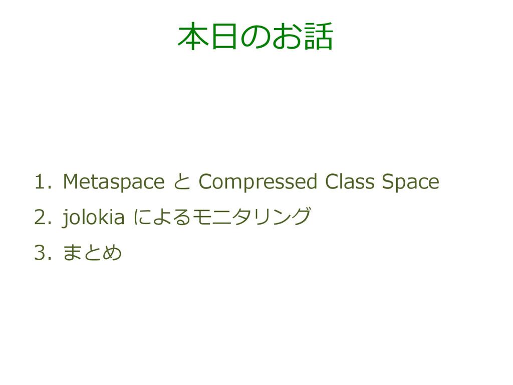 本⽇日のお話 1. Metaspace と Compressed Class Spa...