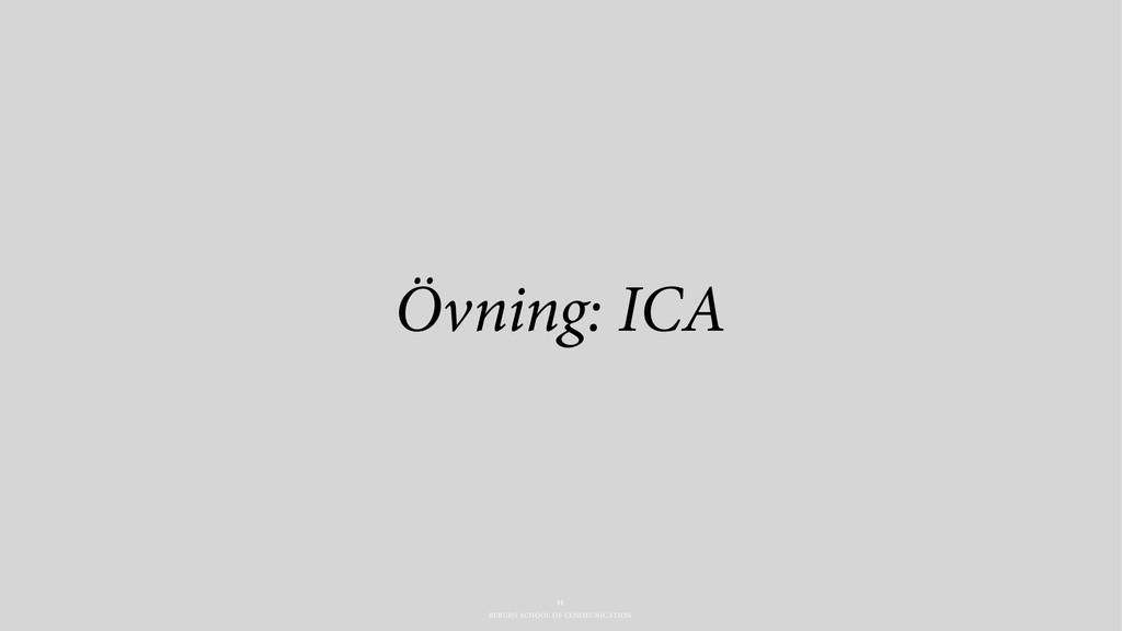 BERGHS SCHOOL OF COMMUNICATION Övning: ICA 31
