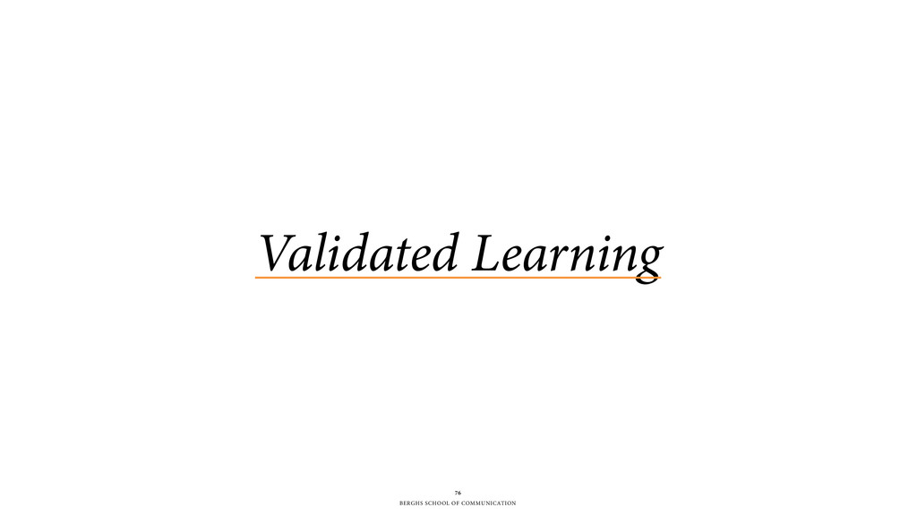 BERGHS SCHOOL OF COMMUNICATION Validated Learni...