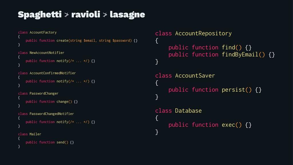 Spaghe!i ≯ ravioli ≯ lasagne class AccountFacto...