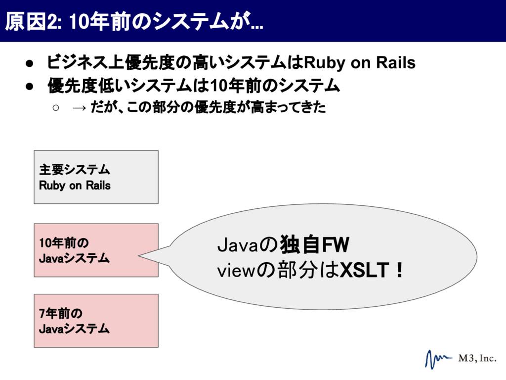 主要システム Ruby on Rails ● ビジネス上優先度の高いシステムはRuby on ...