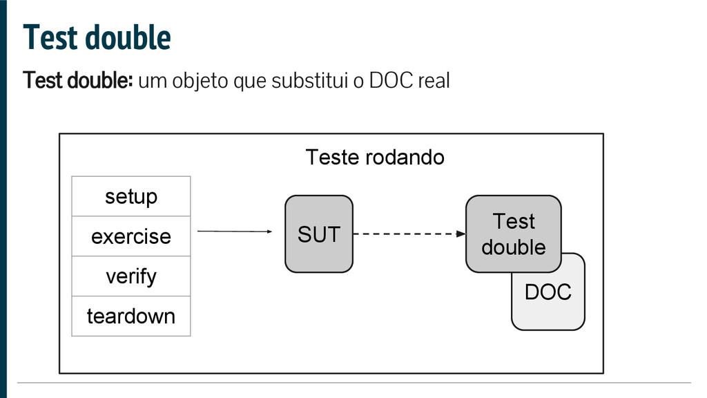 DOC Test double Test double: um objeto que subs...