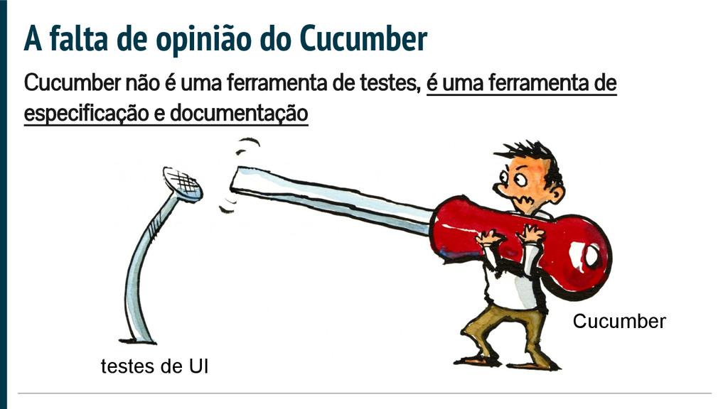 A falta de opinião do Cucumber Cucumber não é u...