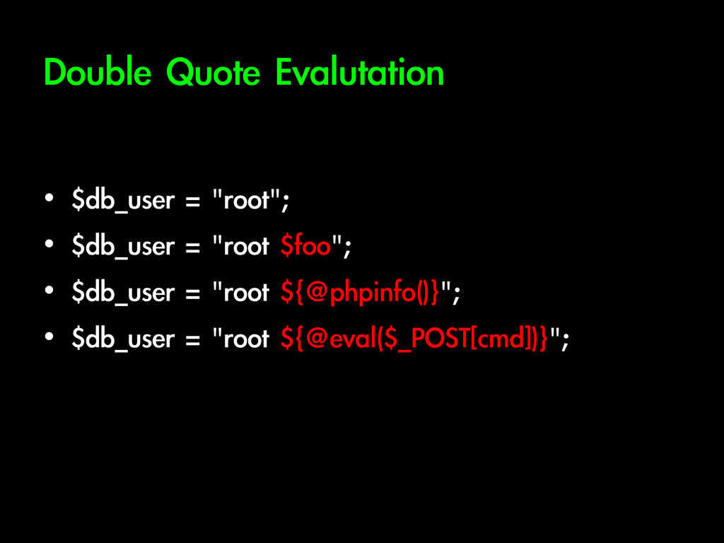 Double	 Quote	 Evalutation