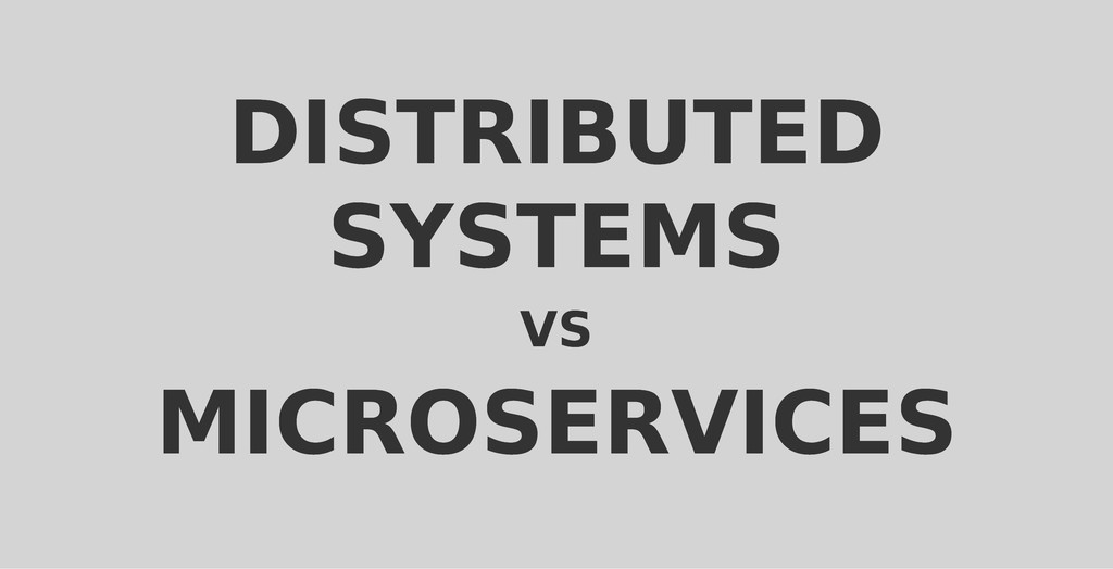 DISTRIBUTED DISTRIBUTED SYSTEMS SYSTEMS VS VS M...