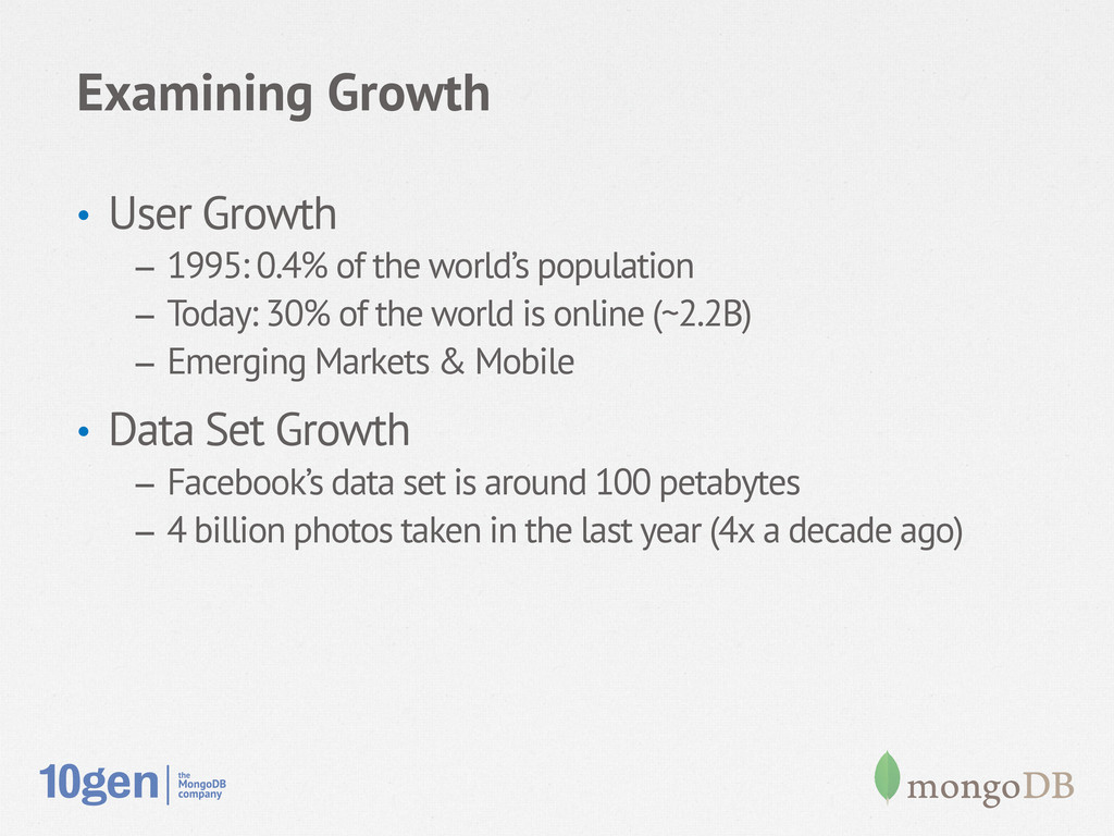Examining Growth • User Growth – 1995: 0.4% o...
