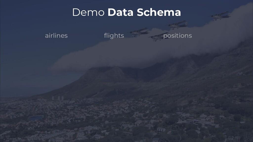 flights airlines positions Demo Data Schema
