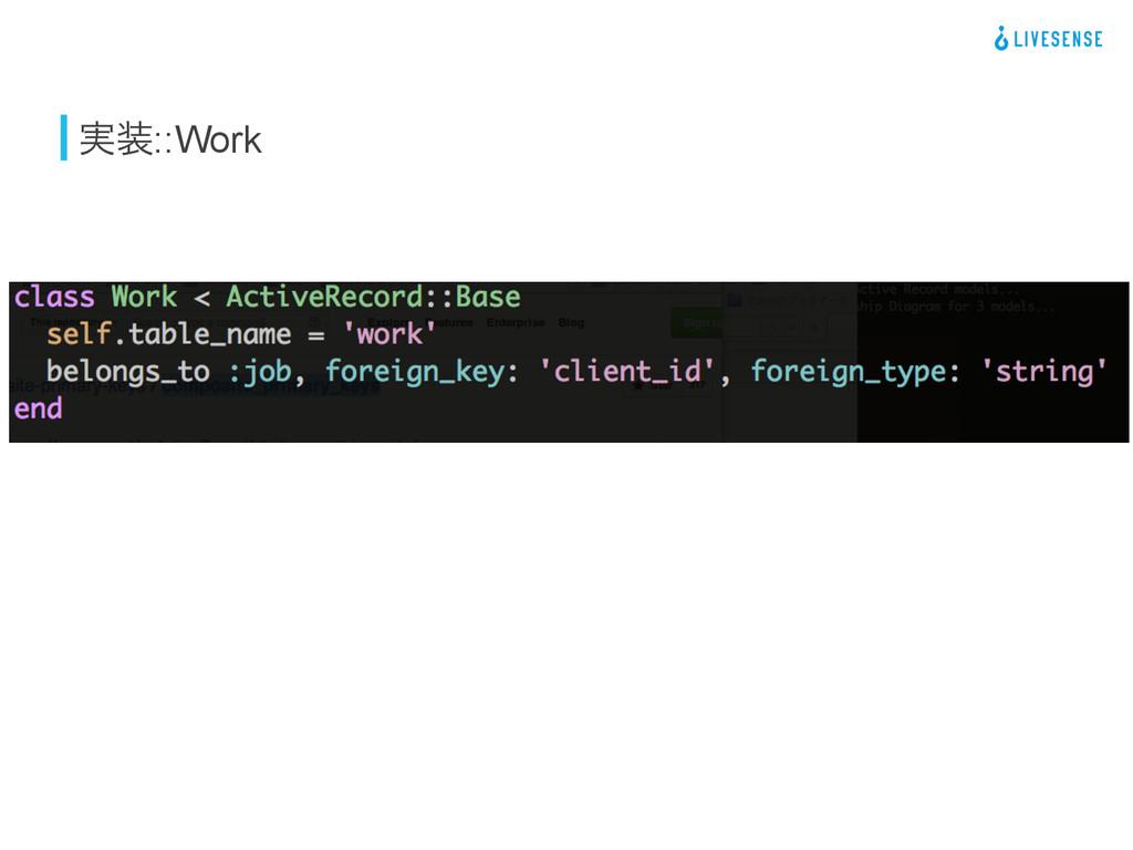 ࣮::Work