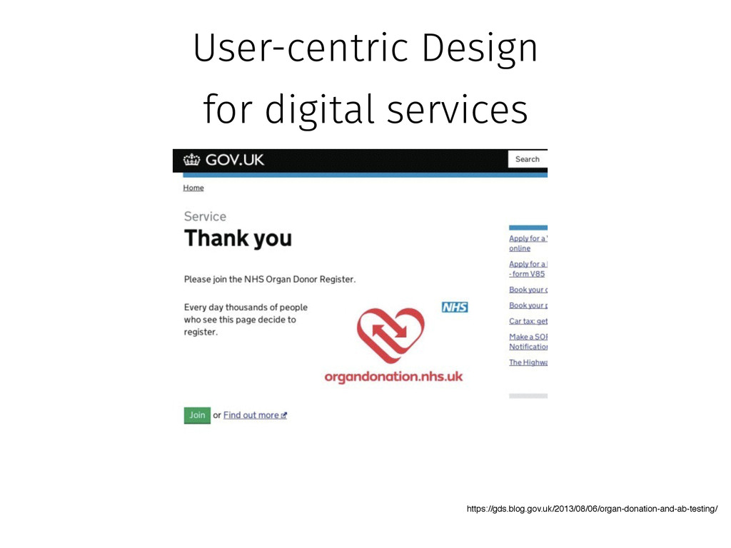 User-centric Design for digital services https:...